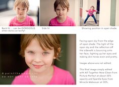 Photoshop Actions - Photography Tutorial on Making Eyes Sharp and Sparkle, How to Find the Light in Photos, Catchlights