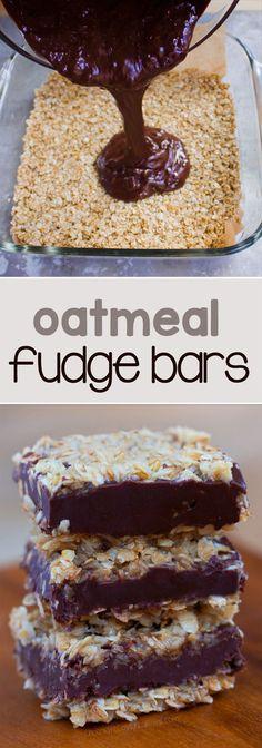 Oatmeal Fudge Bars