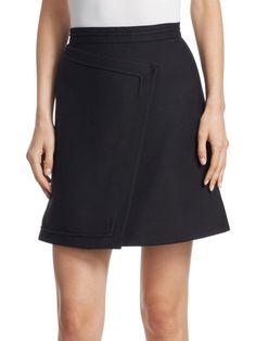 $414 NWT Gorgeous CARVEN Black Mini Skirt, sz Fr36 / US4 #Carven #Mini