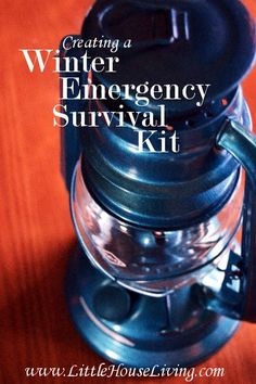 Creating a Winter Emergency Survival Kit #preparedness