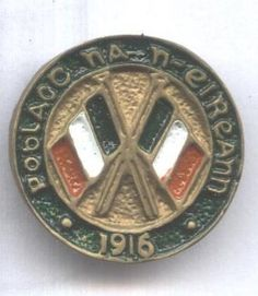 National Volunteers, 1916 Irish Republican Army, Easter Rising, Button Badge, Volunteers, Badges, Ireland, Lineage, Crests, History
