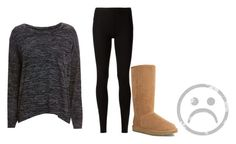 """""""I had a terrible day"""" by littlemissg-1 ❤ liked on Polyvore featuring rag & bone/JEAN, Rick Owens Lilies and UGG Australia"""