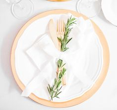 Christmas table decor with golden cutlery