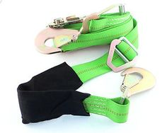 LmGreenStrapA (1) Lime Green Vehicle Car Tie Down Ratchet Built In Axle Strap