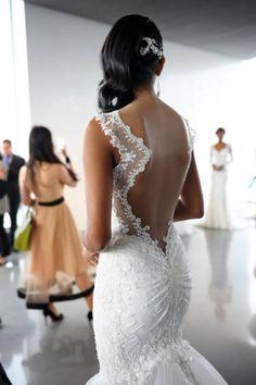 Open-Back Mermaid Gown Galia Lahav Spring 2015 bridal collection