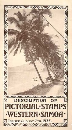WESTERN SAMOA PICTORIAL STAMP ISSUE,