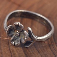 Vintage Sterling Silver James Avery Flower Ring 7 5 GL245 | eBay