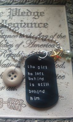 Left Behind Military Wife/Fiance/Girlfriend by LoBabyJewelry, $23.00