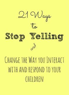 tips on how to stop yelling at the kids & change the way you interact with them! Great tips on how to stop yelling at the kids & change the way you interact with them!Great tips on how to stop yelling at the kids & change the way you interact with them! Gentle Parenting, Parenting Advice, Parenting Humor, Kids And Parenting, Peaceful Parenting, Parenting Classes, Raising Kids, Best Mom, Just In Case