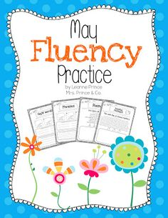 May Fluency! Sight words, phrases, poems, and reading passages. Great for small groups or a fluency center!