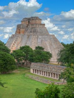 Pyramid of the Magician at Uxmal. Been there!  It's a really spectacular place.