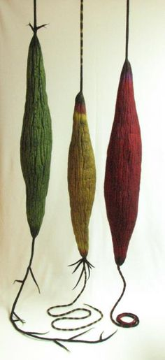 Andrea Graham, felted wool contemporary fibre fiber art