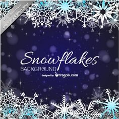 Snowflakes backgound | Free vector