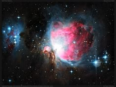 The Great Orion nebula is part of a much larger nebulae complex encompassing most of the Orion constellation.