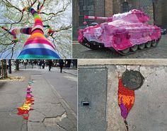 Yarn bombing around the world