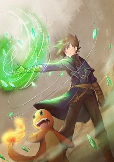 Of The PokeSpe: Green Okido by PrismaticStardust on DeviantArt Green Pokemon, Gold Pokemon, Pokemon Fan Art, Cute Pokemon, Pokemon Gold Character, Character Art, Pokemon Adventures Manga, Pokemon Realistic, Pokemon Pocket