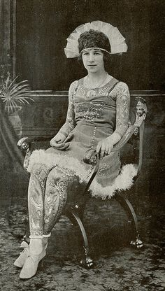 From a vintage postcard of Artoria Gibbons, the Tattooed Lady, circa 1920s.