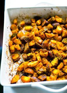 Cheezy Lemon-Pepper Roasted Potatoes