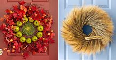 Foto-inspirace 21 podzimních věnců na dveře