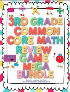 3rd Grade Common Core Math Review - This review is a great way to have FUN going beyond boring worksheets and engaging students! This set has 5 game show style reviews and all domains and standards are covered! WOW! $