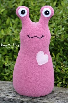 "Fab Find: ""Hug Me Slug"" handmade stuffed plush by elizabethruffing on #Etsy"