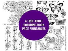 4 Free Adult Coloring Book Page Printables! | Plaid Online