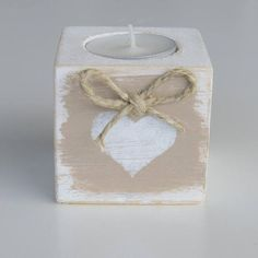 pallet wood candle holder, shabby candle holder, gift for Valentine's day