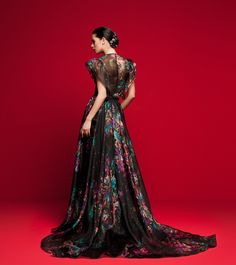 LVS 361 Evening Dresses, Formal Dresses, Cape Dress, High Cut, Couture Fashion, Bridal Gowns, Ball Gowns, Capes, Fashion Designers