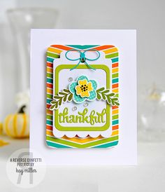 My Joyful Moments: Thankful Card With Reverse Confetti