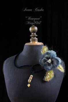 Hand-embroidered jewelry