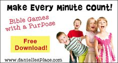 Fast and Easy Bible Games for Children's Ministry and Sunday School - Games with a purpose - Bble verse review games and Bible Lesson Review Games
