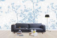 Memory - Blue -             Fotobehang & Behang -           Photowall