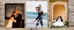 Geezee's:  Personalized Photo Wedding Gifts on Canvas - Add words to a canvas print from your wedding - vows, verses, song lyrics, endless possibilities
