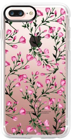 Casetify iPhone 7 Plus Case and iPhone 7 Cases. Other Tree iPhone Covers - Pink Blossoming Branches by Julia Badeeva | Casetify