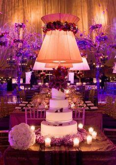 Gotham Hall - New York, NY Wedding, Mindy Weiss Party Planning Purple Wedding, Chic Wedding, Wedding Events, Wedding Reception, Dream Wedding, Uplighting Wedding, Reception Ideas, Wedding Bells, Centerpiece Decorations