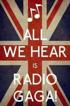 ''All we head is radio gaga'' : Radio gaga de Queen Music Love, Music Is Life, Rock Music, Song Quotes, Music Quotes, Funny Quotes, John Deacon, Freddie Mecury, Queen Lyrics