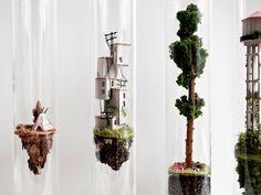 Micro Matter: Vertical Dwellings Inside Glass Test Tubes by Rosa de Jong