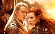 Legolas and Tauriel<-- the hand! Look at her hand!!!