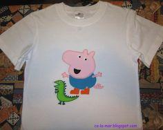 """Patchwork: """"Camiseta de George Pig"""""""
