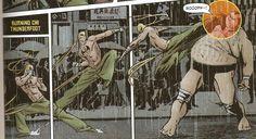 Immortal Iron Fist 9 - Iron Fist vs Fat Cobra by Ed Brubaker & David Aja Iron Fist Marvel, Iron Fist Comic, Comic Books Art, Comic Art, Book Art, Warframe Excalibur, Comic Character, Character Design, Emma Frost Costume