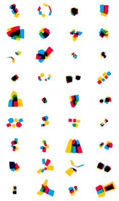 立方体をプログラムで色々ばらした実験的アート。きれいだな。(via A Cooper Union mark variant in HTML5 | uncontrol)