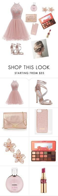 """""""Prom 2017"""" by wendyfashion on Polyvore featuring Steve Madden, Loeffler Randall, Ted Baker, NAKAMOL, Too Faced Cosmetics, Chanel and Yves Saint Laurent"""