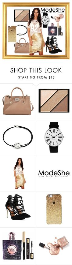 """Untitled #77"" by deja-leko ❤ liked on Polyvore featuring Jimmy Choo, Elizabeth Arden, Alex and Ani, Rosendahl, Steve Madden and Yves Saint Laurent"