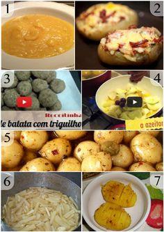 cardápio com batatas