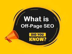 How the name already tells Off-Page #SEO is everything that doesn't happen on a site itself. #Backlinks are the main topic when it comes to Off-Page SEO. #seotips #linkbuilding #digitalmarketing #contentmarketing