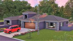 4 Bedroom House Plan – My Building Plans South Africa Round House Plans, House Plans For Sale, My Building, Building Plans, House Plans South Africa, 5 Bedroom House Plans, House Construction Plan, Beautiful House Plans, Kerala Houses
