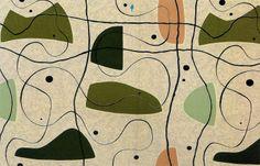 Henri Moore textile design, 1950's