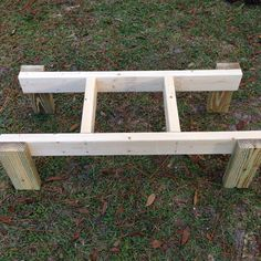 Beehive stand. 3 feet long, 1 foot wide and 1 foot tall. Perfect for two 10 frame hive bodies or three 5 frame Nucs.