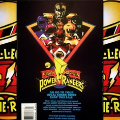 The Back of the MMPR Movie Comic Book ⚡️