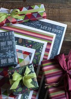 Printable Christmas Gift Wrap It's Very Cute!